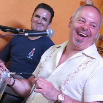 Alberto and me at TEA, Ageate, Gran Canaria.